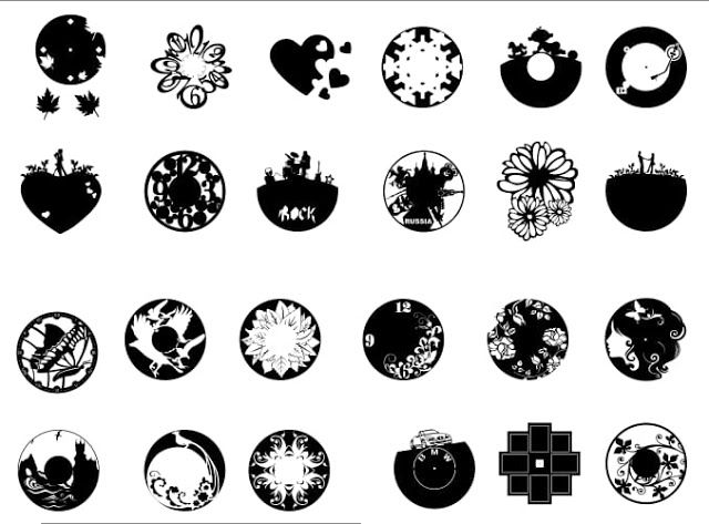 wow free wall clock dxf file you must try one download