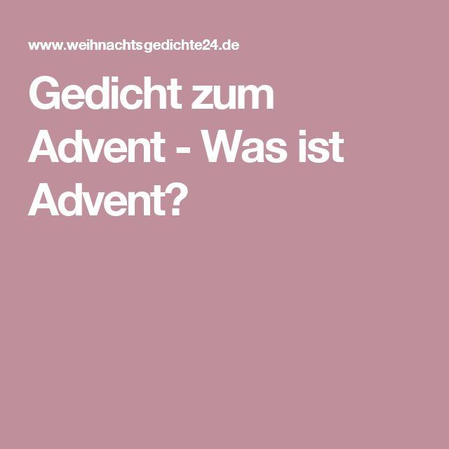 Gedicht zum Advent - Was ist Advent?