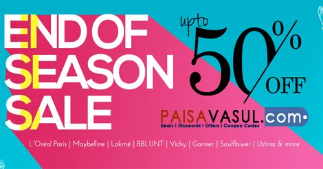 Nykaa Offer: Upto 50% Off On End Of Season Sale | PaisaVasul.com  http://www.paisavasul.com/code/nykaa-offer-upto-50-off-on-end-of-season-sale  @PaisaVasul.com @PaisaVasul dotcom  @Nykaa @nykaa  @Maybelline New York India  @Maybelline UK  @L'Oréal Paris Brasil @Lakmé Fashion Week @BBLUNT Salons + Products + Expertise  ‬ @soulflowerbuds @Ustraa By Happily Unmarried  #paisavasul  #Nykaa  #nykaa   #maybeline   #loreal   #lakme   #bblunt   #ustraa #deals  #offers   #discounts    #coupons