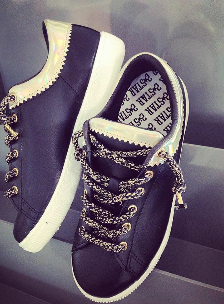 Be cool thanks to a gorgeous pair of #2star shoes!  www.2star.it  #sneaker #sneakers #black #gold #laminated #laces #leather #fashion #style #trendy #gorgeous #shoe #shoes #fall #winter #collection #woman #girl #instacool #instadaily