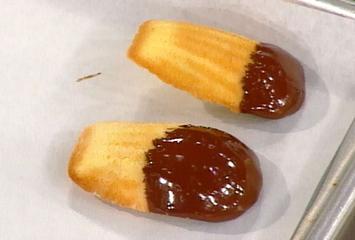 This are SO easy and delish. Can also use lemon zest. Also great without the chocolate dip. Emeril's Orange Madelines Recipe : Emeril Lagasse : Food Network