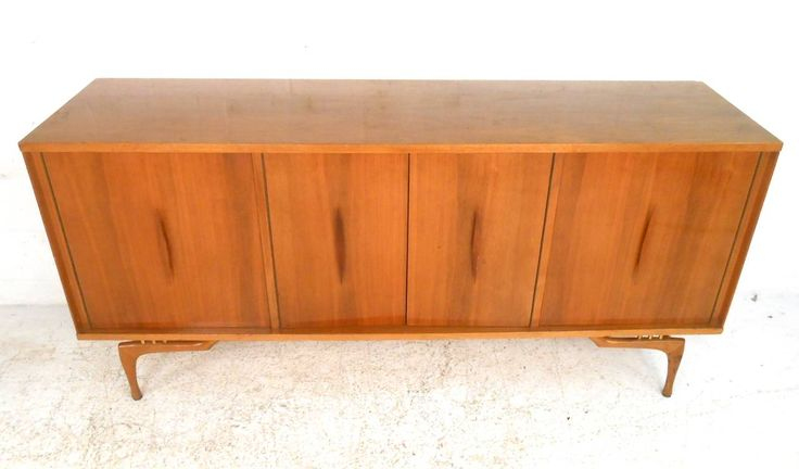 Unique Mid-Century Modern Sculptural Walnut Sideboard 4