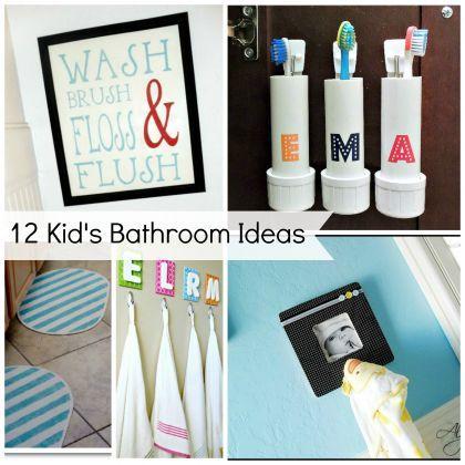 A Dozen DIYs Perfect for Kids' Bathrooms