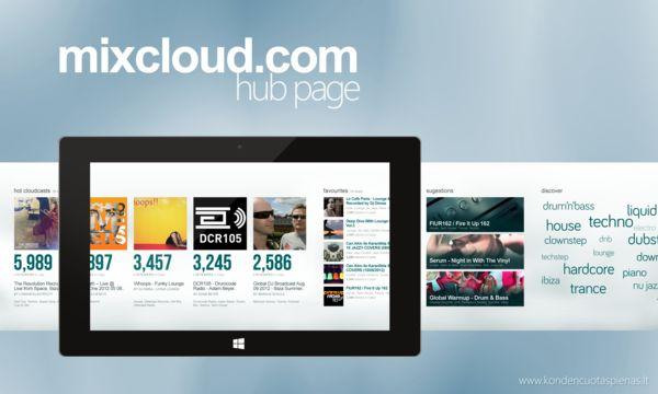 Mixcloud.com Application Concept for Windows 8 on Behance