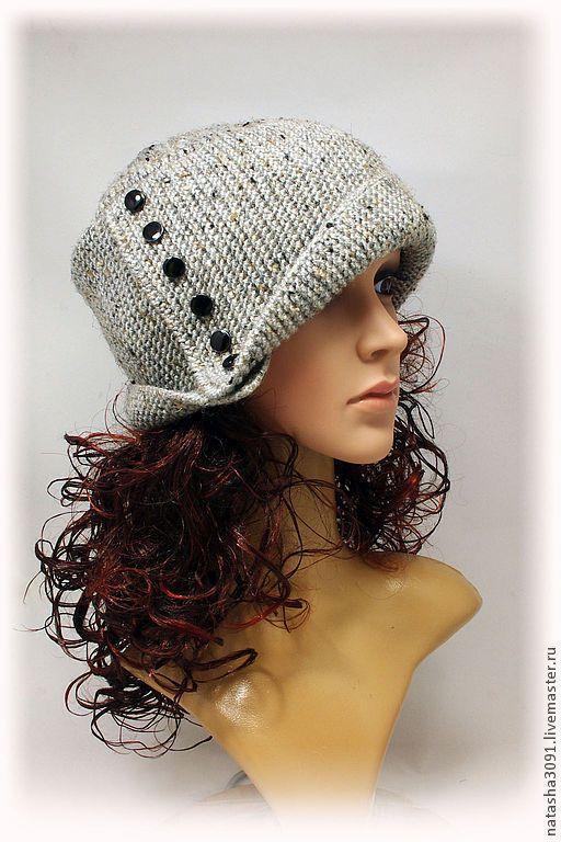 """Шапки ручной работы. Ярмарка Мастеров - ручная работа. Купить Шапка-шляпка """"Робин"""". Handmade. Серый, шапка зимняя, подарок"""