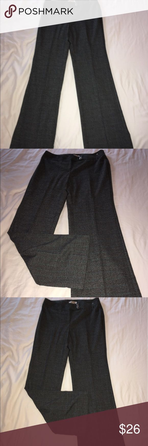 "🍓BRAND NEW WHITE HOUSE BLACK MARKET DRESS PANTS🍓 🍓FABULOUS AND BRAND NEW WHBM DRESS PANTS THE FIT FABULOUSLY AND ARE ACTUALLY SEXY IN A CLASSY WAY. YOU'LL GET THAT PROMOTION SPORTING THESE TO WORK. MID RISE, BLACK/GRAY TIGHT PLAID, WIDE LEG. FRONT AND BACK POCKETS. SIZE 6. WAIST>TO 30"", HIPS>TO 39"", INSEAM>33"". RETAIL $128. White House Black Market Pants Trousers"