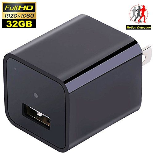 New Security Hidden Camera Charger – Spy Camera Wireless Hidden – 1080P HD USB Wall Charger with 32G Internal Memory – Nanny Spy – Motion Activated Adapter