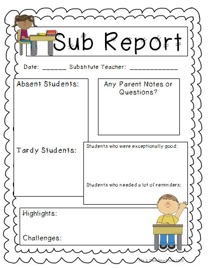 The 2 Teaching Divas: Search results for Sub report