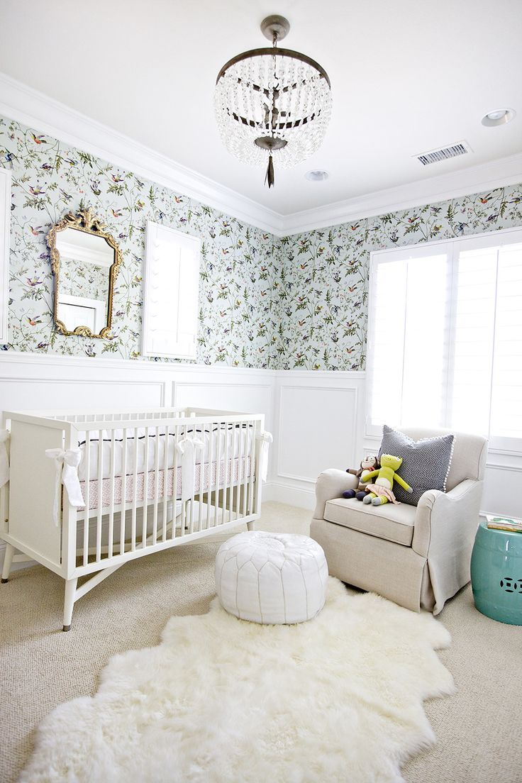 Darling nursery in whites and aqua