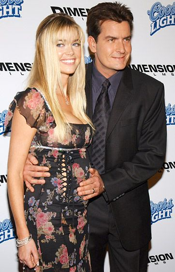 "Denise Richards & Charlie Sheen attended the ""Scary Movie 3"" premiere on October 20, 2003"