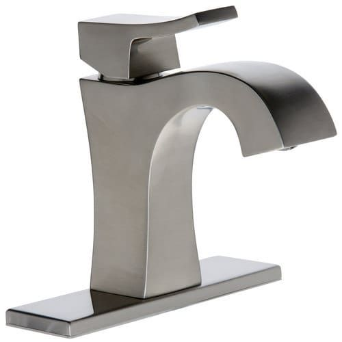 Mirabelle MIRWSVL100 Vilamonte 1.5 GPM Single Hole Bathroom Faucet - Includes Pop-Up Drain Assembly (