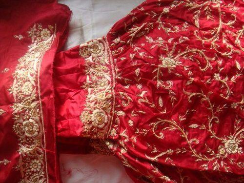 Red Jaaldar Gharara