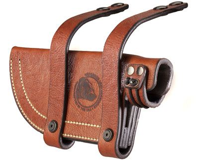 Shooting Illustrated | Hedgehog Leatherworks Sheath for the T1 Tops Tom Brown Tracker