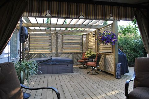 1000+ images about hot tub privacy ideas to work with on ...