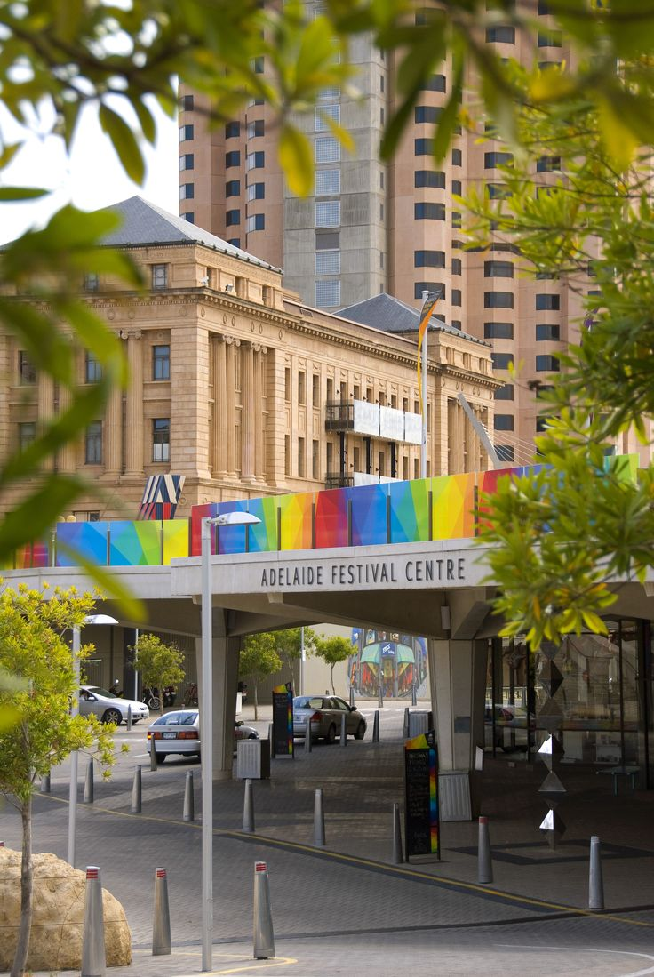 This is Adelaide Festival Center. Adelaide Festival - the largest annual arts showcase in the southern hemisphere