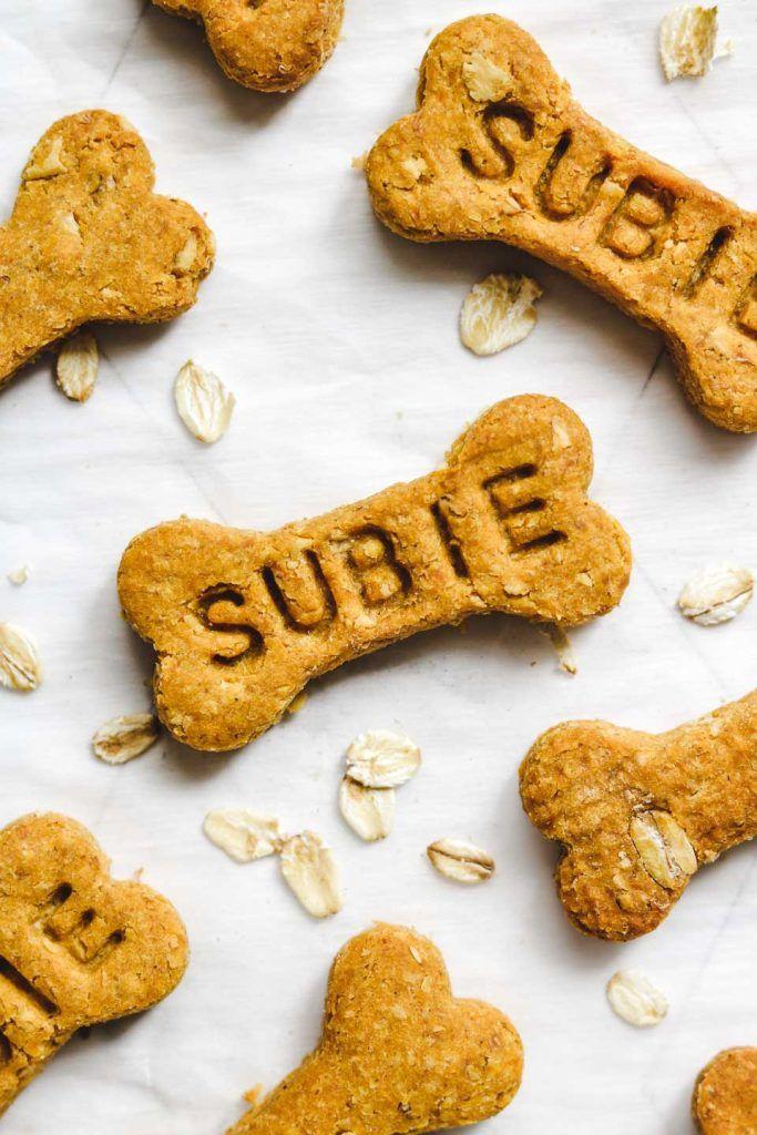 Vegan Pumpkin Dog Treats 4 Ingredients Okonomi Kitchen In 2019