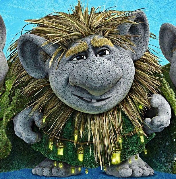 Grand Pabbie the rock troll appears on FROZEN.