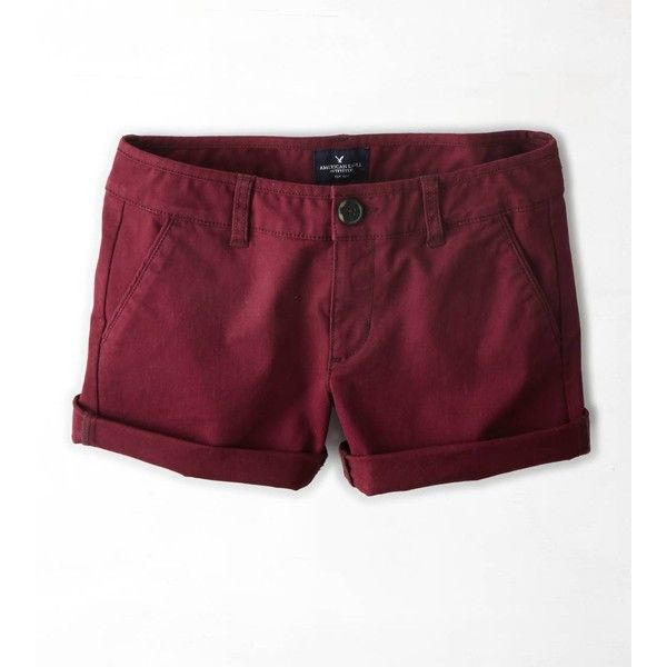 American Eagle Midi Shorts, Women's, Size: 2, Maroon ($25) ❤ liked on Polyvore featuring shorts, bottoms, maroon, midi shorts, american eagle outfitters, american eagle outfitters shorts, cuffed shorts and maroon shorts