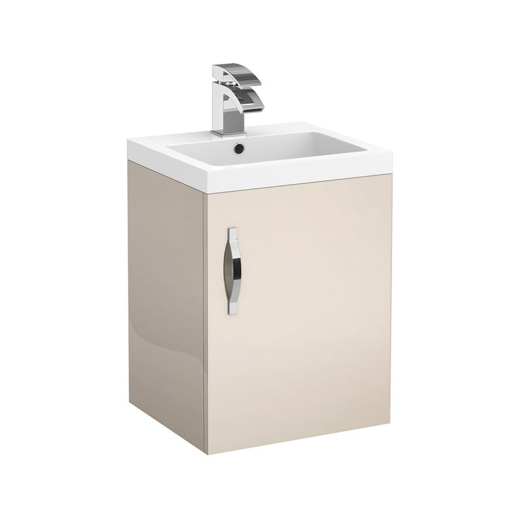 Browse the Apollo 400mm Single Door Wall Hung Unit with Basin. Cashmere finish. In stock and available online now at Victorian Plumbing.co.uk.