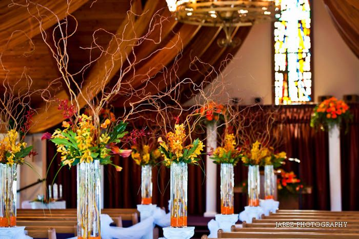 38 best church environment weddings images on pinterest wedding wedding decorations for fall wedding in a church junglespirit Gallery