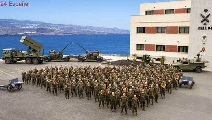 Toma de posesión el nuevo jefe del artillería antiaérea de Las Palmas