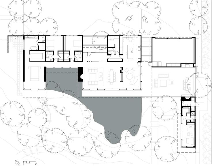 Floor Plan  Sustainable Retreat by the Pond in Atherton  California245 best houses images on Pinterest   Architecture  Griffins and  . Ultra Modern Home Floor Plans. Home Design Ideas