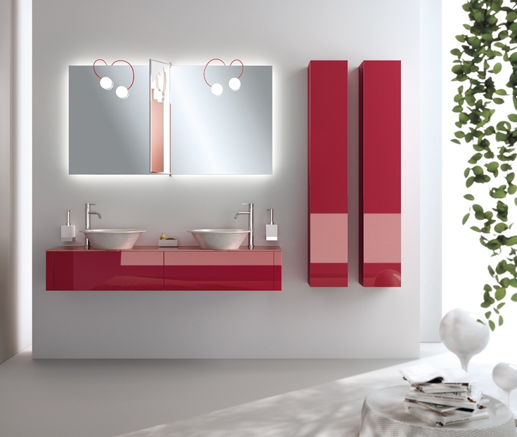 The #bathroom according to Scavolini    Ruby Red  