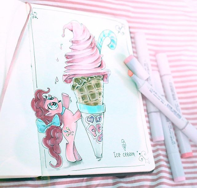 #illustration #illustrations #lookbook #рисунок #drowning #artist #sketch #sketchbook #watercolor #paint #waterblog #art #pink #disney #disneyart #topcreator  #painting #vsco #vscorussia #vscocam #process_of_creativity #process #artwork #mywork #littlepony #icecream