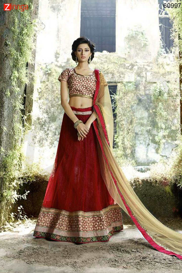 Women's Pretty A Line Lehenga Style in Maroon Color. Message/call/WhatsApp at +91-9246261661 or Visit www.zinnga.com