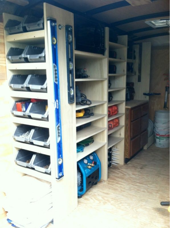 1000 ideas about van shelving on pinterest van racking for Rv workshop