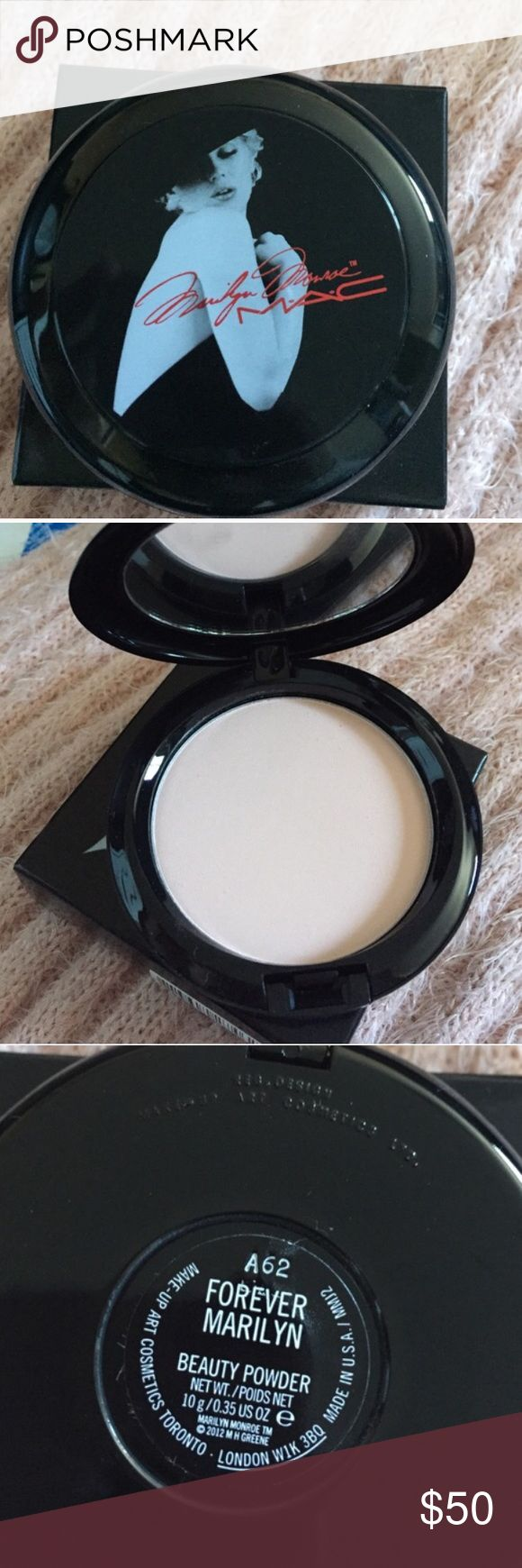 Mac Limited Edition Forever Marilyn Monroe Mac Limited Edition Forever Marilyn Monroe Beauty Compact! This is limited you will not find this compact at any store location. Brand New with box MAC Cosmetics Makeup Blush