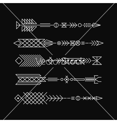 Hipster arrows abstract elements for tattoo and vector - by Baksiabat on VectorStock®