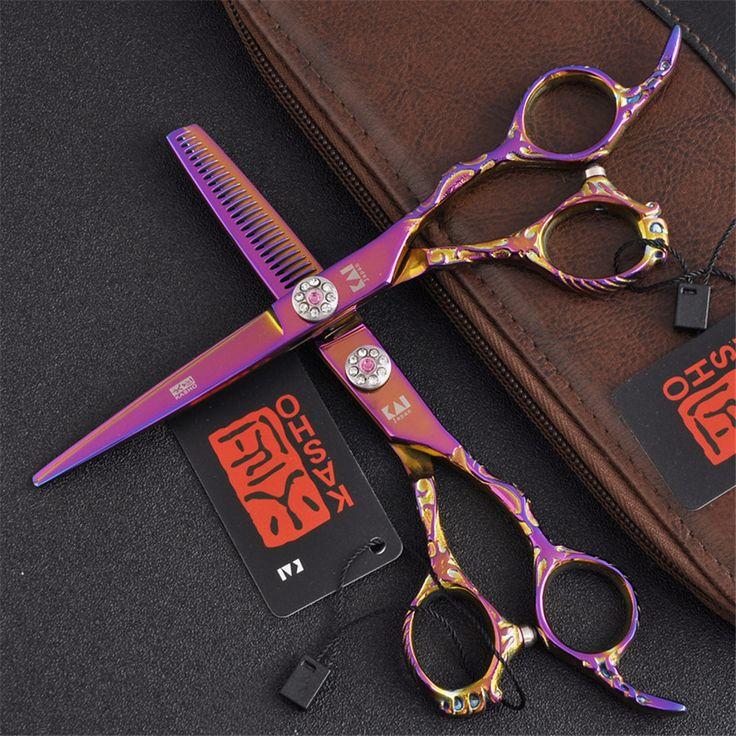 High Quality <font><b>Kasho</b></font> Scissors Professional hair scissors 6.0 inch hairdressing scissors <font><b>tijeras</b></font> <font><b>de</b></font> peluqueria berber makas