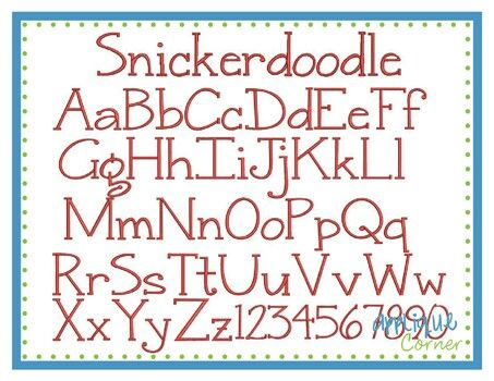 Snickerdoodle font