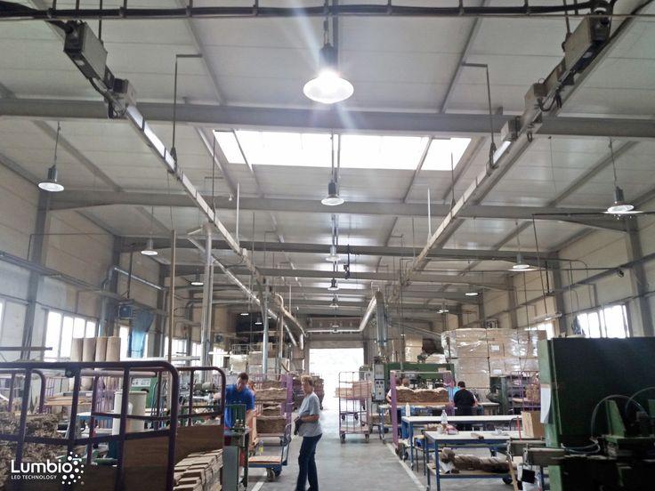 LED High bays Lumbio Installed