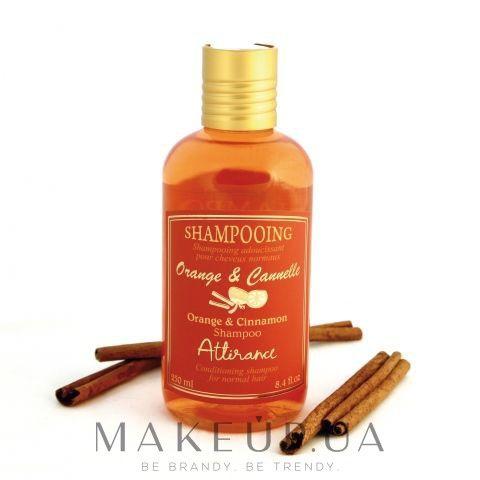 Освежающий и бодрящий шампунь – это отличное средство для очищения нормального типа волос! Шампунь «Апельсин и корица» бережно ухаживает за кожей головы, защищает волосы от ломкости и появления секущихся кончиков.  Благодаря цитрусовым ноткам, ваши волосы обретут прежний блеск и станут более шелковистыми. В состав шампуня также входит экстракт ромашки и эфирное масло пачули...