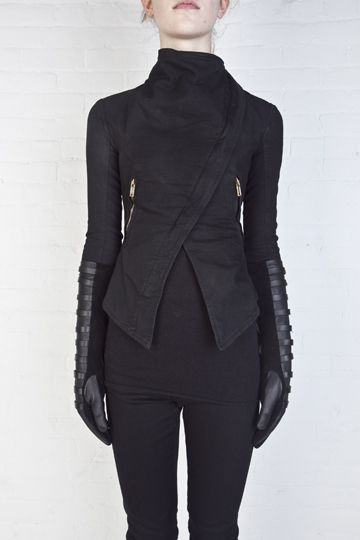 Lovely leather jacket by Reborn. See more @Colleen Allison.ws/shop/GarethPugh/gpfw11003/