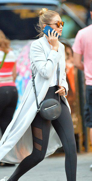 Gigi Hadid wearing the rag & bone Circle Bag