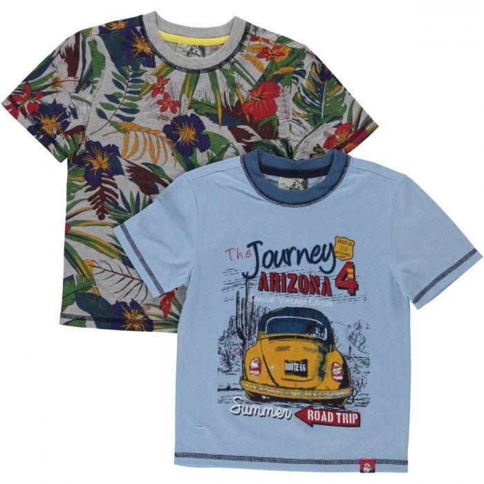 2-pack arizona/palm print t-shirts Image 1