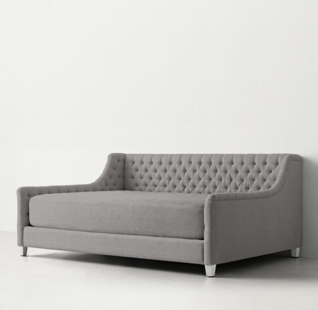 Rh S Daybed Mattress Slipcover Our Ingenious Transforms Any Into An Oversized Seat Cushion Easily Removed To Convert The