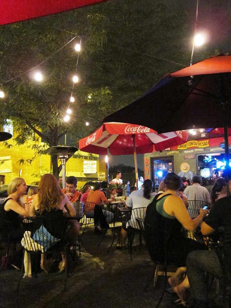 Outdoor patio and Cuban food at 90 Miles Cuban Cafe (2540 W Armitage Ave) in Chicago