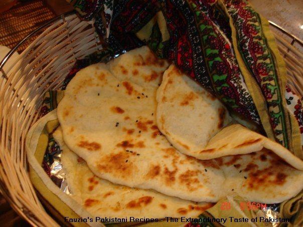 Nan Recipe - Pakistani Bread - Fauzia's Pakistani Recipes - The Extraordinary Taste Of Pakistan