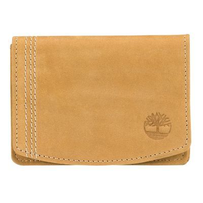 Timberland Stratham Leather Card Case Wheat