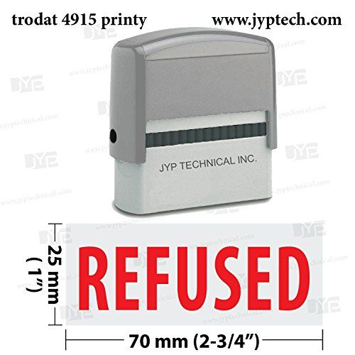 Extra Large Trodat 4915 Self Inking Rubber Stamp w. Refused