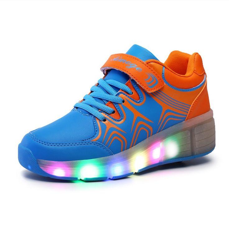 2016 Children Heelys Led Light Kids Fashion Sneakers ...