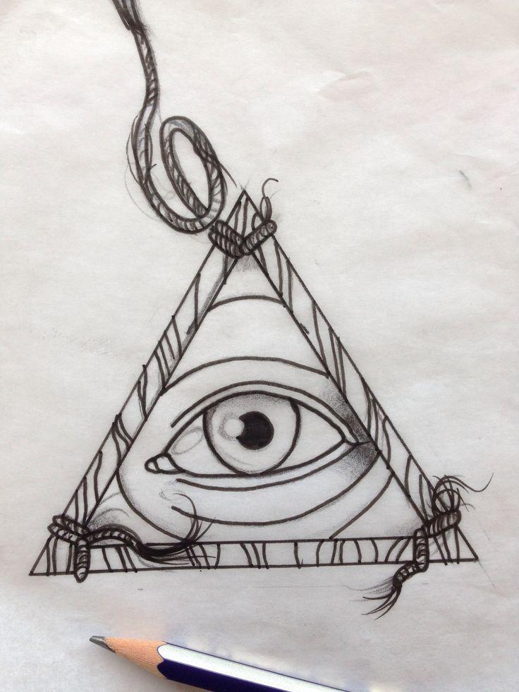 All seeing eye tattoo up for grabs #allseeingeye #tattoo #illuminati #leicester email: dragonsforgetattoo@hotmail.co.uk