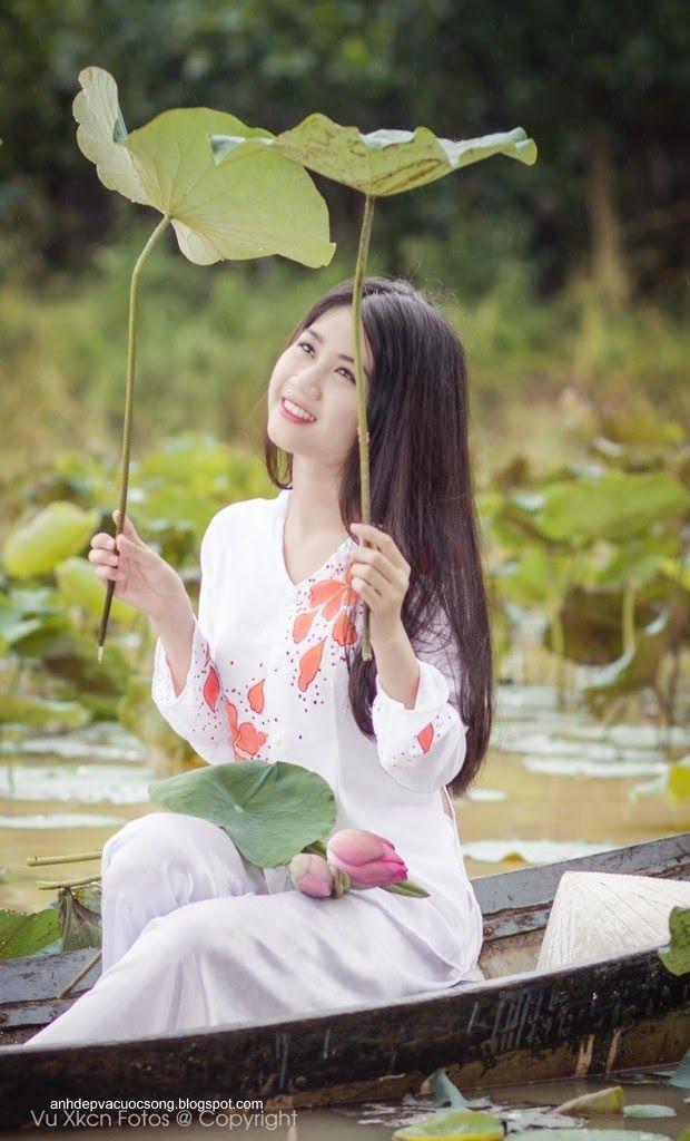 thôn nữ xinh đẹp với áo bà ba   Beautiful Vietnamese Girls ...
