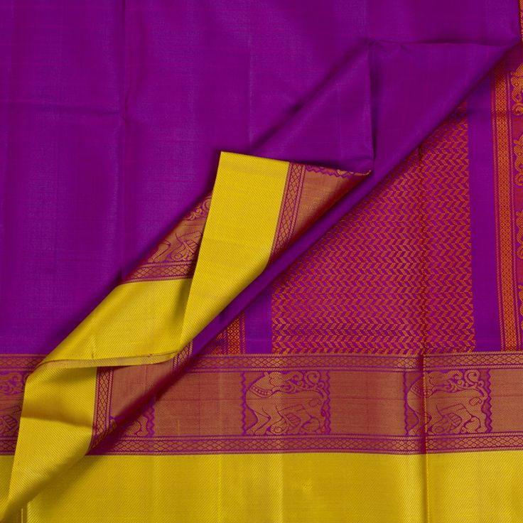Kanakavalli Handwoven Kanjivaram Silk Sari 1006007 - Sari / Kanjivarams - Parisera