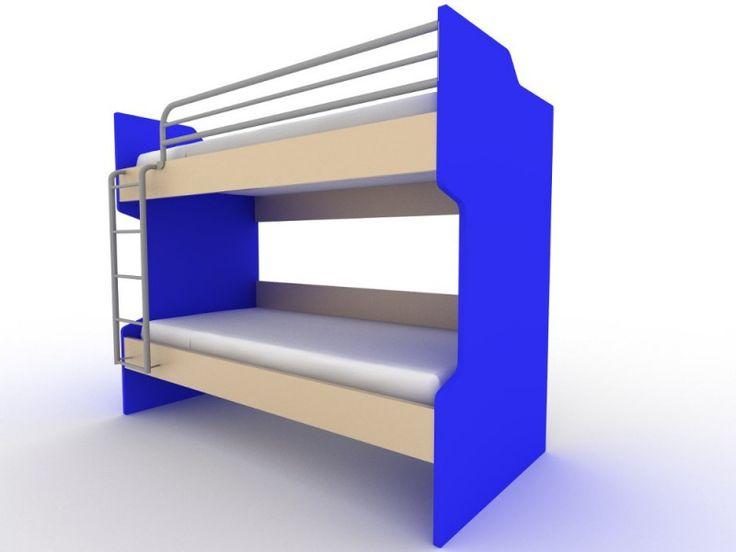 Κουκέτα ξύλινη 207x98x173εκ. με 2 κρεβάτια IV02 Μπλέ