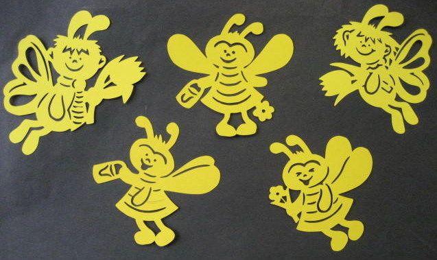 """Fensterbild  """" Honigbienen und Schmetterlinge """" 5 Stück • EUR 3,00"""